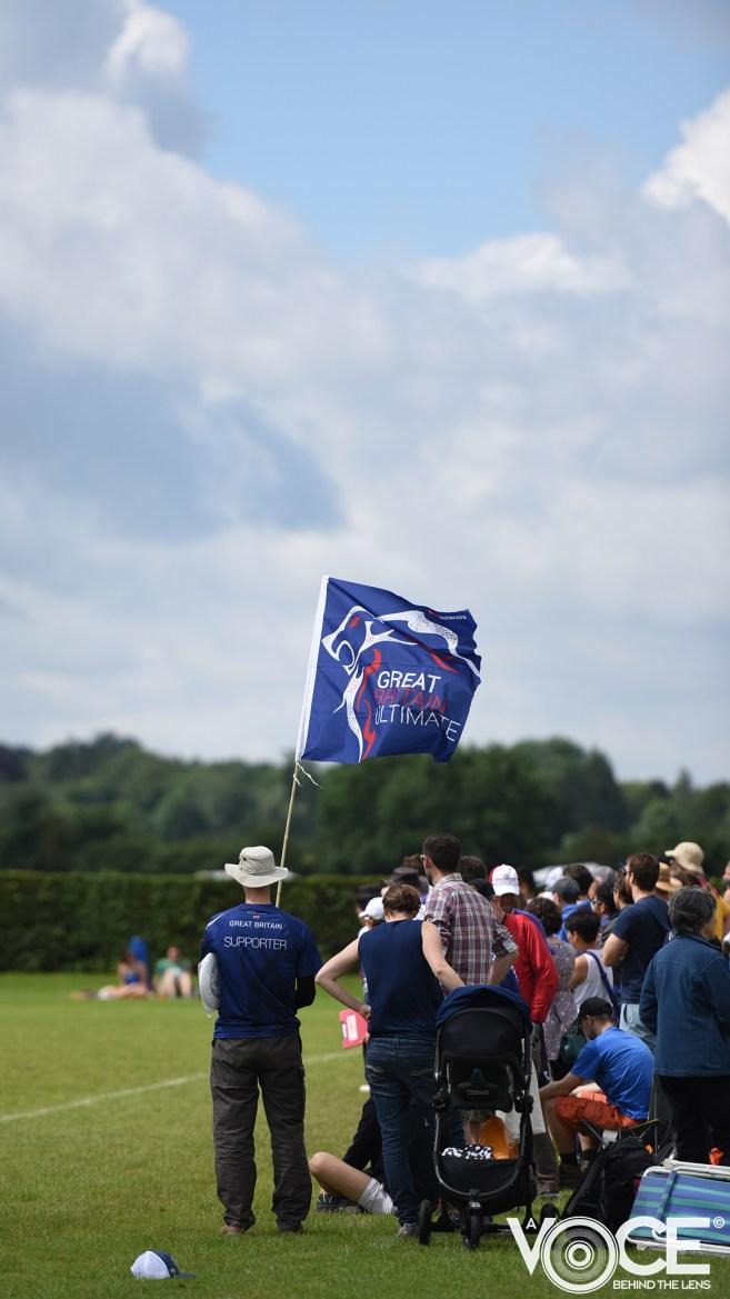 Great Britain's flag bearer