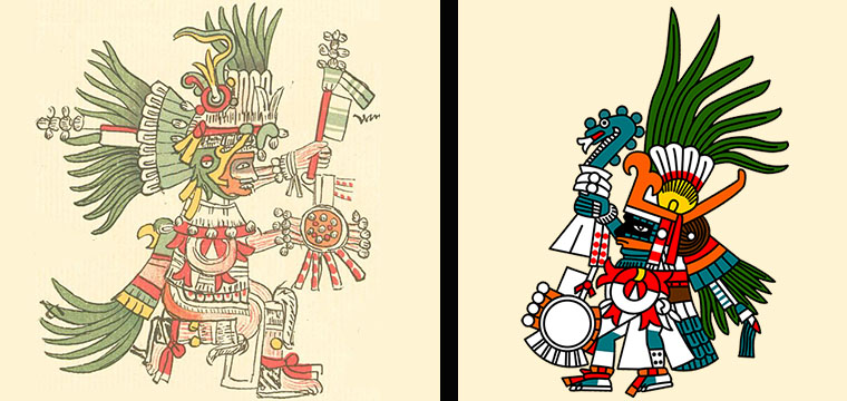 Huitzilopochtli, the Aztec Hummingbird God of War