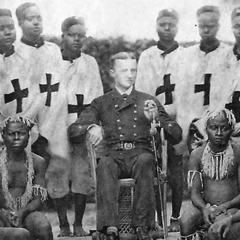 Maurice Vidal Portman with the Andamanese