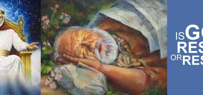 Is God Resting or Rested?