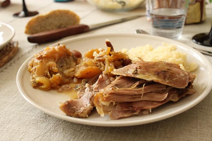 Tajine d'agneau fenouil, poire et fruits secs