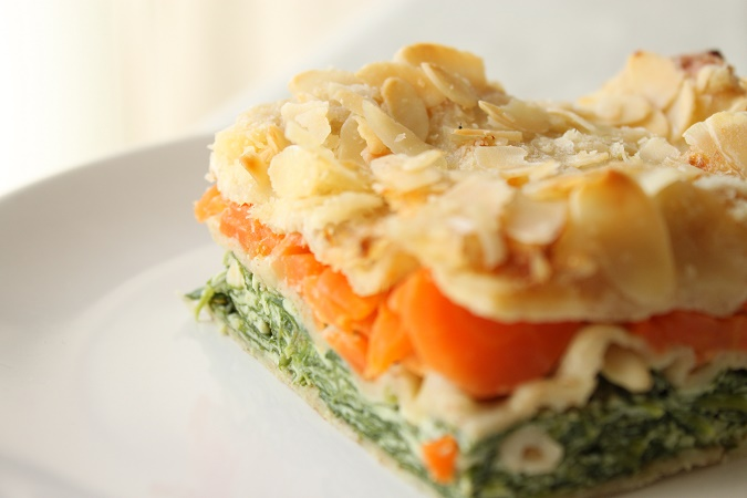 Lasagnes carottes et épinards