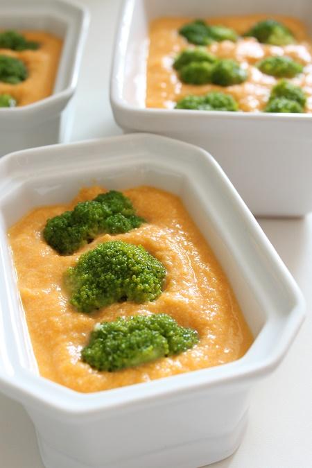 flan carotte gingembre brocolis