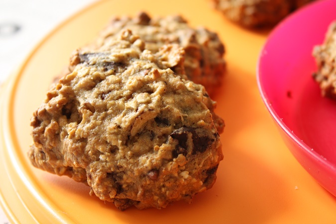 Cookies  moelleux sans beurre chocolat orange