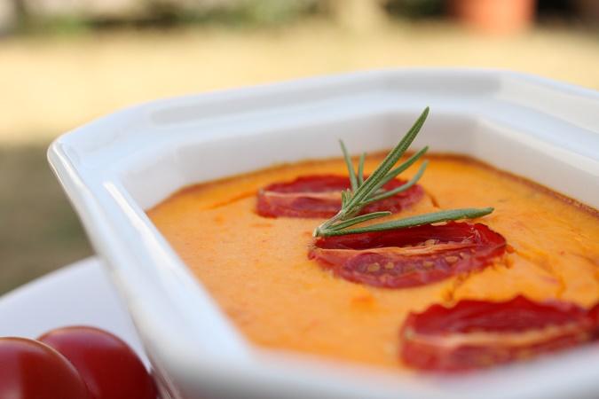 Flan carotte poivron