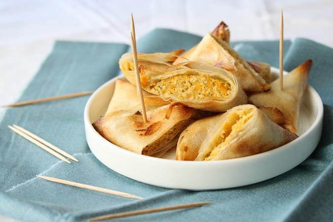 Samoussas de veau curry vert patate douce