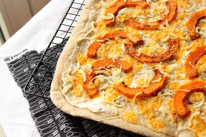 Pizza à la courge butternut