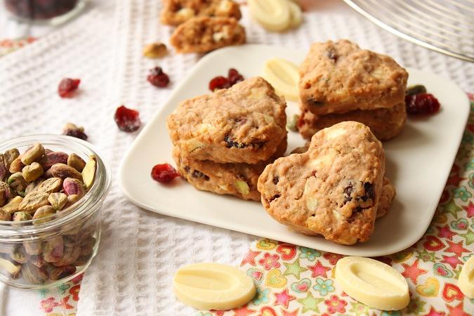 Cookies coeur aux flocons d'avoine