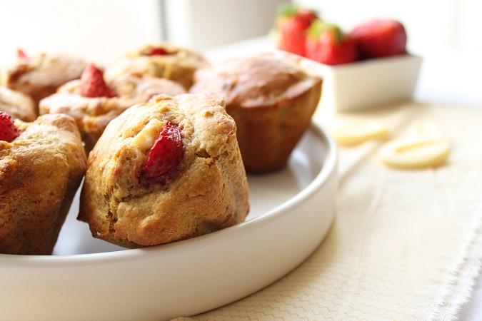 muffins aux fraises chocolat blanc