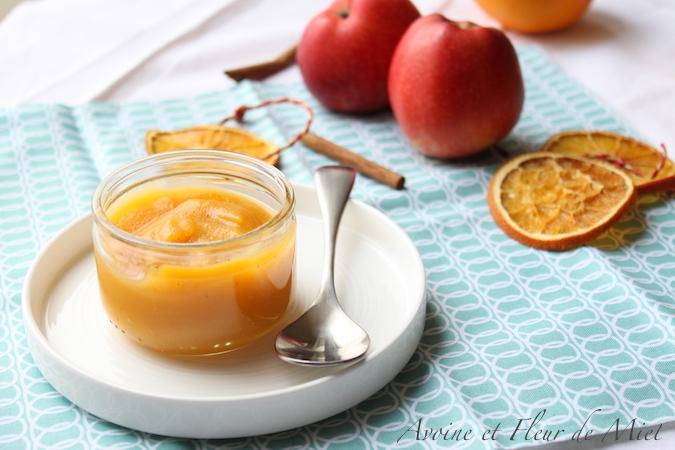 Compote pomme orange potiron