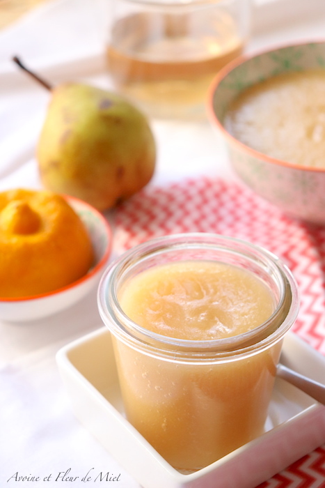 Compote pomme poire citron Bergamote