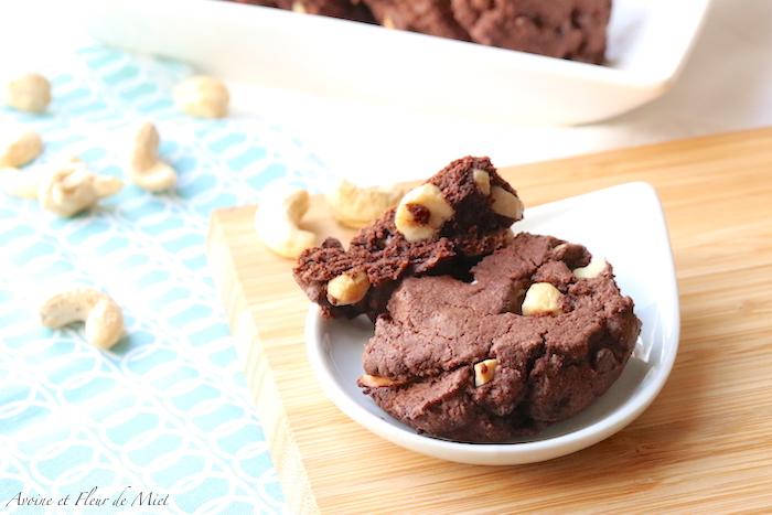 Cookies chocolat et noix de cajou