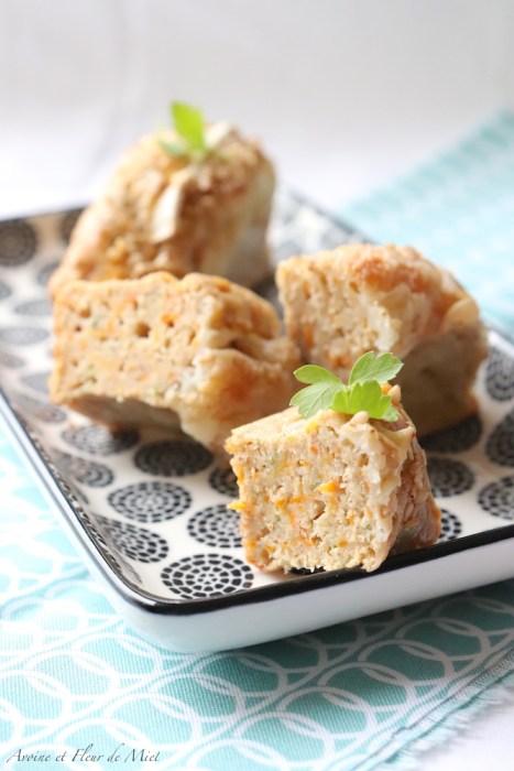 Cake salé carotte, chèvre et cumin