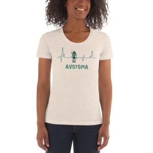 Avotopia American Apparel Women's Scoop Neck Fitted T-shirt – Oatmeal