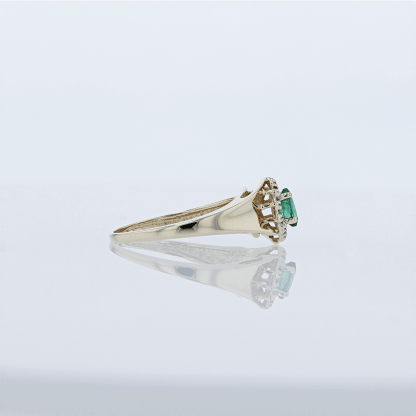 Marquise Emerald with Diamonds