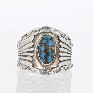 Sterling Navajo Turquoise Ring