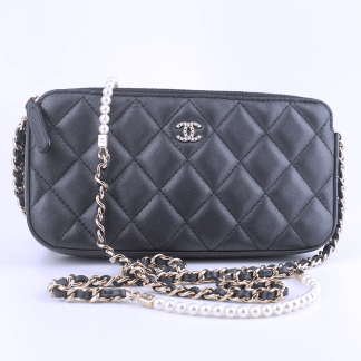 Chanel Small Clutch with Pearl Chain