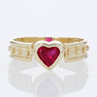 Syn Ruby Heart Ring