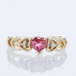 Pink Heart & Diamond Band