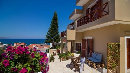 Avra Apartments, Kalyves, Crete - Levantes patio