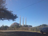 Goodbye, Morro Bay! The three historical smokestacks stand at attention, waiting for its loyal visitors' inevitable return to the peaceful and picturesque town.