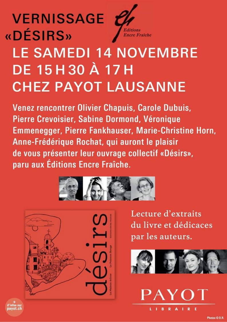 Désirs Payot Lausanne