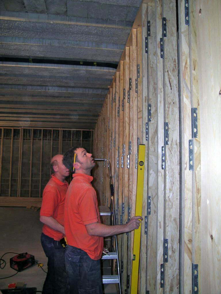Acoustic Wall Framing installation, UK