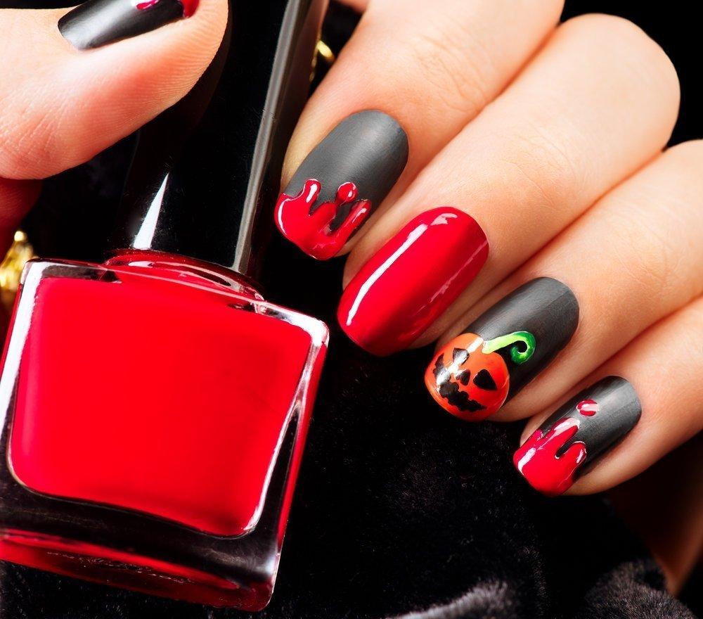 маникюр красный с черным фото дизайн 2