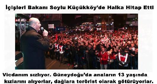 İçişleri Bakanı Soylu Küçükköy'de Halka Hitap Etti.