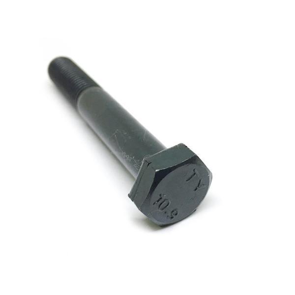 Болт с неполной резьбой М12 х 80 х 1.5 - 10.9 черный