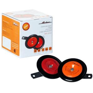 Сигнал звуковой дисковый 110мм 315/415Гц 118дБ 12В LOW/HIGH комплект AHR-12D-01