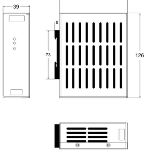Габариты 120W.24V.DIN