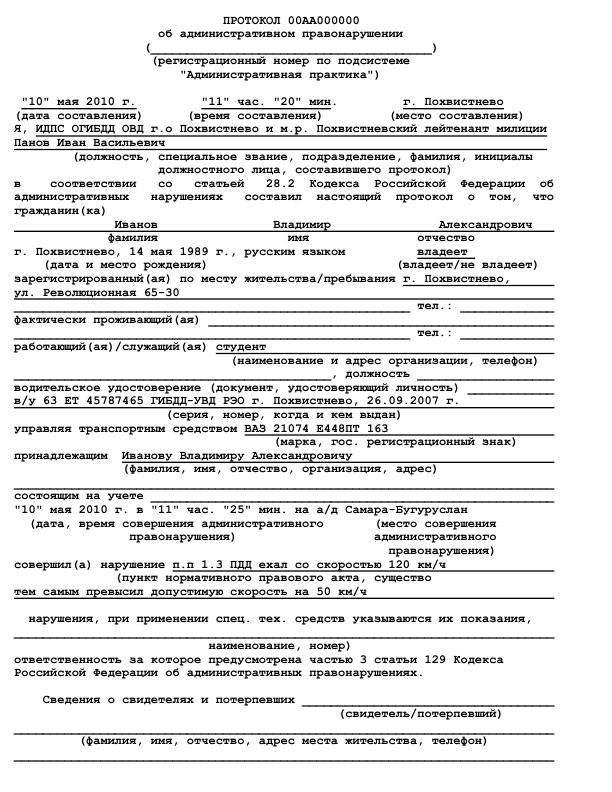 Разбор административных правонарушений по элементам состава преступления