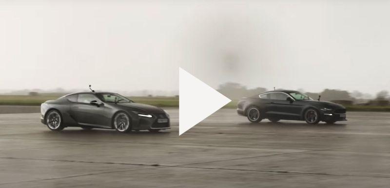 Битва купе с V8: на прямой сравнили Lexus LC 500 и Ford Mustang Bullit