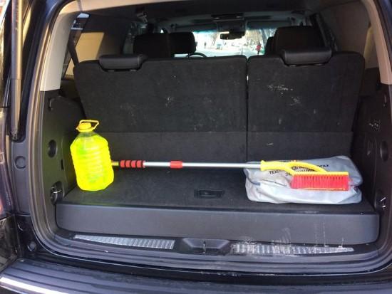 Фото багажника Chevrolet Tahoe.