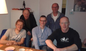vlnr Erik, Marc, Duncan, John en Sander