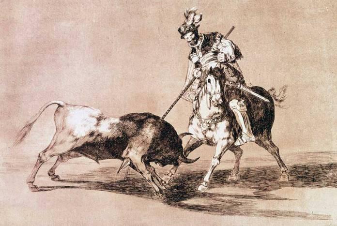 El_Cid_Campeador_lanceando_otro_toro_(Tauromaquia_-_Goya)