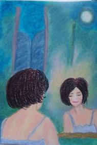 """Titel: 'Jezelf zijn door te zeggen … Het leven is van mij"""" Thema: Van jezelf houden, en het leven leven zoals jij het voor je ziet. Datum: 18 -7 – 13 (Nog niet klaar) Oliepastelkrijt 54 x 36 cm (c) Madeleine Oppelaar. Gelieve niet kopieren zonder toestemming. Dank! ♥ Met beeldende groet, Madeleine."""