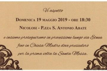 Don Gabriele Serafica - presbiterato 2019 a Nicolosi