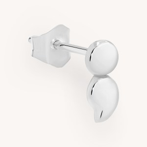 SemiC Semicolon White Gold Earring