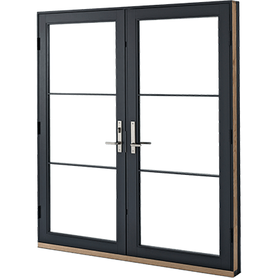 e series hinged patio door