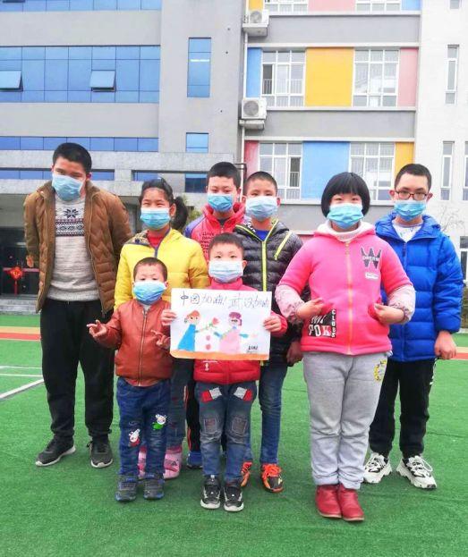 Children in china wear masks