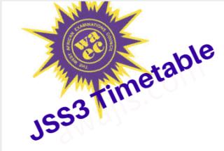 junior WAEC time table