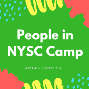 people in nysc camp