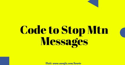 MTN Do Not Disturb Code to Stop Mtn Messages