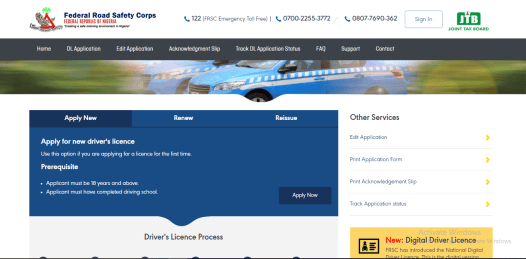 Nigeria Drivers License Online Application and Renewal Process