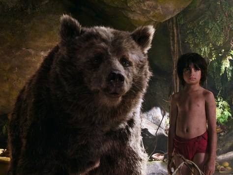 Bill Murray and Neel Sethi in The Jungle Book