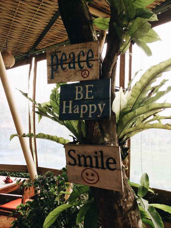 Peace, Be Happy, Smile