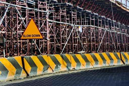 Slow Down Construction Site