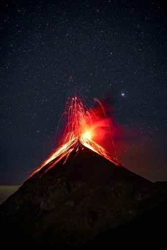 Volcano erupting like an angry empath.